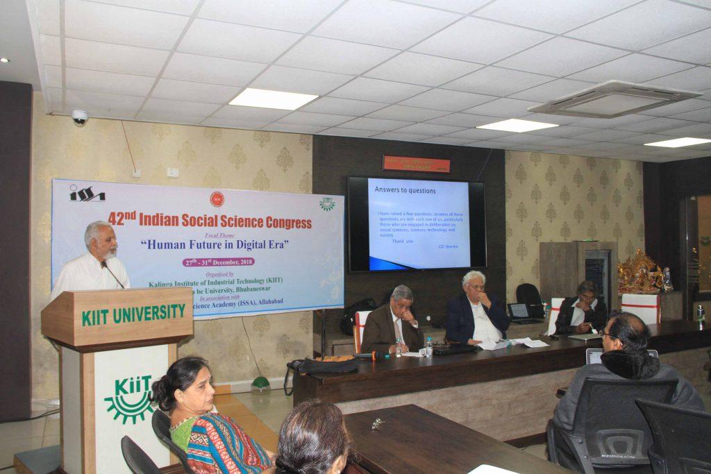 42nd Indian Social Science Congress 2018 at KIIT