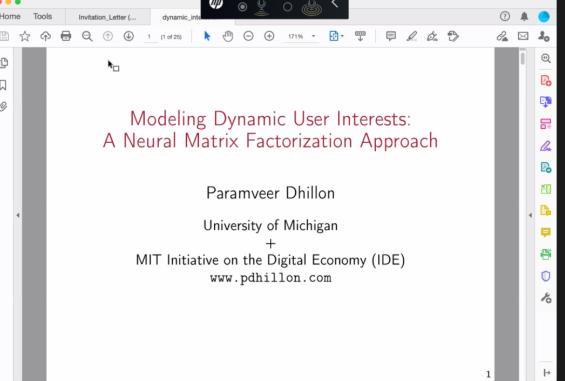 KIIT cse Lecture A Neural Matrix Factorization Approach